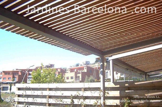 Dise�o construccion pergola caseta madera tendal hierro aluminio exterior Barcelona paisajista Fost Sant Cugat Valles Vicen� Montalt Andreu Llavaneres Teia Alella Cabrils Premia dalt Cabrera Argentona Valles jardineros Maresme Llobregat