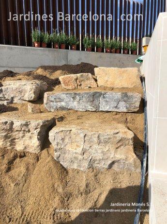 Rocalla muro contencion tierras talud jardinero gaviones Barcelona Badalona Terrassa Sant Cugat Valles Sant Vicen� Montalt Andreu Llavaneres Tiana Alella Cabrils Premia dalt mar Cabrera Llobregat Maresme
