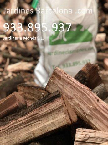 Venta de le�a de encina seca a domicilio en sacos a particulars empresas hornos a las poblaciones de Badalona, Barcelona, Masnou, Montgat, Santa Coloma, Tei�, Sant Adri�,