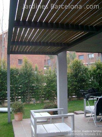 Dise�o construccion pergola caseta madera tendal hierro aluminio exterior Barcelona paisajista Terrassa Sant Cugat del Valles Sant Vicen� de Montalt Andreu Llavaneres Tiana Alella Cabrils Premia dalt Cabrera Argentona Valles jardineros Maresme