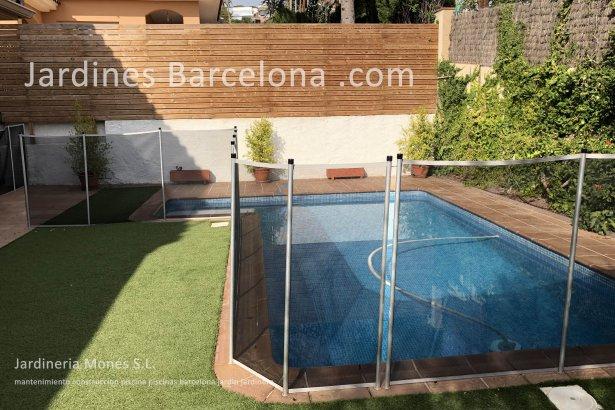 Mantenimiento construccion piscinas Barcelona piscina terrazas exteriores jardines jardin Terrassa Cugat Valles Sant Vicen� Montalt Llavaneres Prat Alella Llagosta Premia dalt mar Badalona Badalona jardineria Maresme