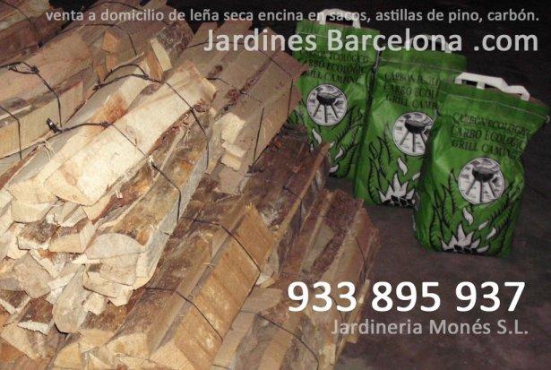 Venta a domicilio de le�a de encina seca en sacos, astillas de pino, c�scaras trituradas de pi�as, pastillas de encendido y carb�n a poblaciones de Barcelona, Maresme, Baix Llobregat i Vall�s Occidental